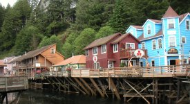 Creek Street in Ketchikan Alaska Photo Button