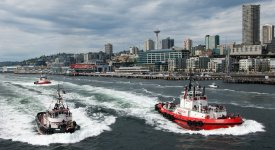 Tug Boats working in Seattle Photo