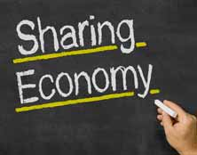Sharing Economy Blackboard Image