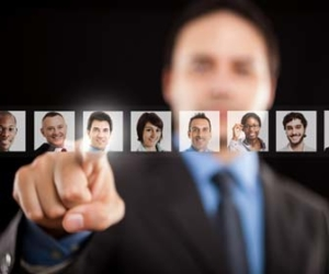 Man selecting the right person for the job picture