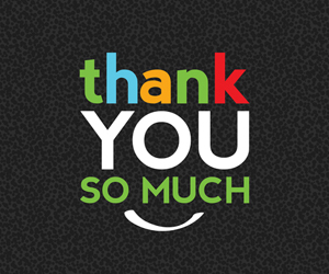 """the words """"thank you so much"""" on a black background"""