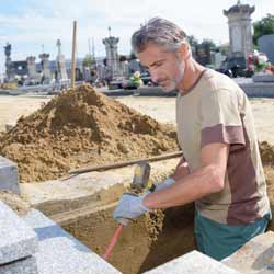 Gravediggers Play a Key Role When it is Time for Someone to be Buried